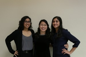 College of Democrats at UCF Asian American Caucus Leaders (left to right) Saiyara Chowdhury, Stephanie Slater and Devi Mody. Photo by Johnna Gracik
