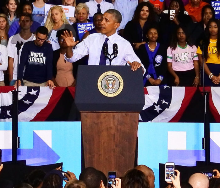 Obama Campaigns for Clinton in Jacksonville